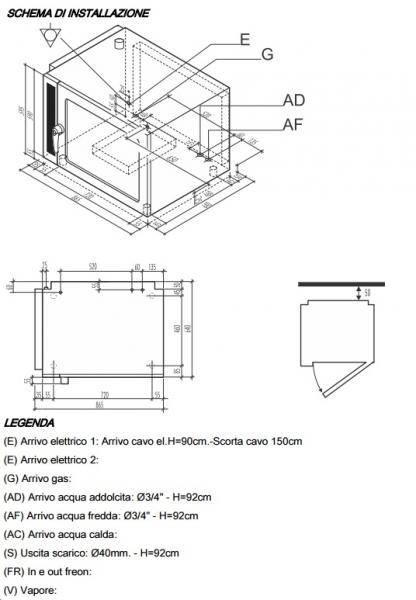 Schema Elettrico Per Porta Automatica Pollaio : Forno convezione vapore gas elettromeccanico gn